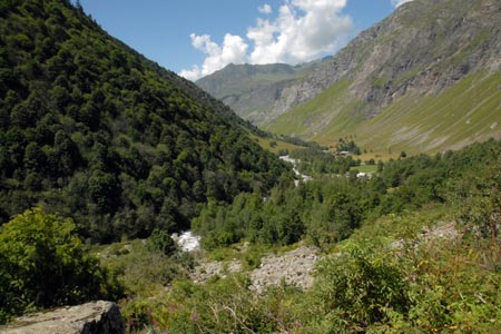 The view down valley near Laisonnay-d'en-Bas