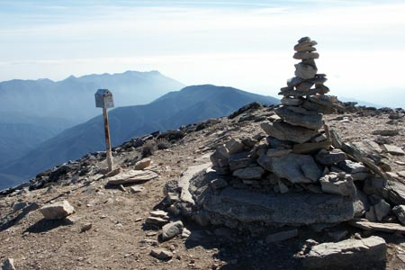 The summit cairn and postbox on Torrecilla