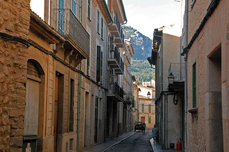 Shady street in Soller